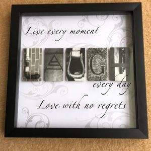 Other - Wall art w/inspirational saying. LAUGH in center
